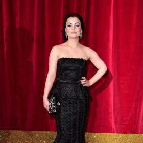 Actress Shona McGarty at the British Soap Awards 2015